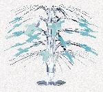 Decoracion Radiant Cross Blue Mini Cascade Centrepiece - 21.5cm