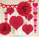 Valentines Day Paper Decorating Kit 9 Pieces