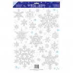 Vinyl Window Decoration Snowflakes Prismatic 45.7 x 30.5 cm