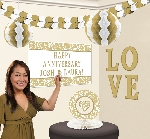 Kit Decoracion Personalised Decorating Kits-Gold Elegant Scroll