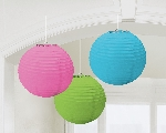 Farolillos Multi-Colours Paper Round Lanterns 24cm