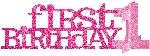 Centro de Mesa 1st Birthday Glitter Pink Centrepieces
