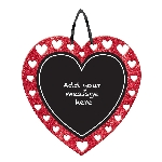 PANCARTA GLITTER CHALKBOARD HEART
