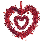 DECO TINSEL DBL HEART