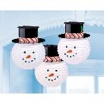 3 Lanterns Snowmen with hat