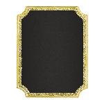 Pizarra Gold Glitter Easel Chalkboard MDF Signs 18cm x 23cm x 2cm