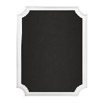 Pizarra White Glitter Easel Chalkboard MDF Sign 18cm x 23cm x 2cm