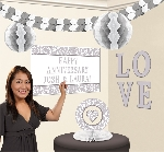 Kit Decoracion Personalised Decorating Kits-Silver Elegant Scroll