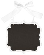 Pizarra Large White Glitter Marquee Chalkboard MDF Sign 25cm x 23cm x 0.7cm