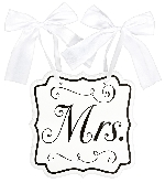 Pizarra Mrs MDF Chair Signs 24cm x 24cm x 0.7cm