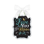 Pizarra Love You MDF Sign 27cm