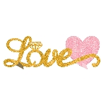 Centro de Mesa Love Glitter Stand-up Table Decoration 35cm x 11cm