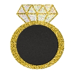 Pizarra Ring Glitter Stand-up Chalkboard Sign 25cm x 30cm