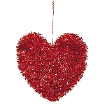 DEC SM TINSEL HEART