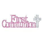 Centro de Mesa First Communion Pink Glitter Table Decorations