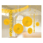 Decoracion Colgante Sunshine Yellow Room Decoration Kit