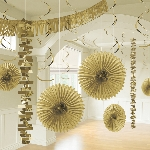 Kit Decoracion Gold Room Decoration Kit