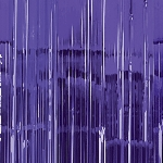 Decoracion Puerta Purple Door Curtain 91cm x 2.43m