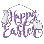SIGN DIE CUT FOAM SCRPT EASTER