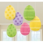 6 Mini Egg Shaped decoracion 10 cm