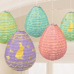 DECOR. FAROLILLOS MINI HUEVOS W/ HS EASTER