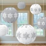6 Paper Lanterns Winter Icons20.3 cm/25.4 cm/30.4 cm