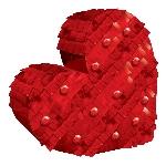 DECO. MINI HEART FOIL 14.6CM X 14.8CM