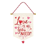 PANCARTA LOVE IS ALL YOU NEED 35CM X 55.8CM