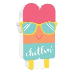 CARTEL JUST CHILLIN POPSICLE STANDING DECORATIONS 15CM
