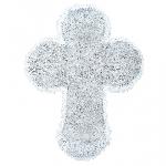 Acc Decoracion White Large Tinsel Cross