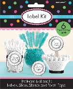 Pegatinas Candy Buffet Scalloped Labels Silver Kit