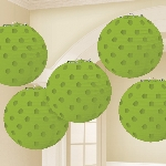 Farolillos Kiwi Green Hot Stamped Paper Lanterns 12cm