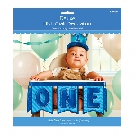 Decoracion Silla 1st Birthday Blue High Chair Decorations