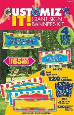 Banderin GIANT plast:PERSONALIZE