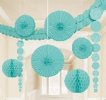 Decoracion Colgante Robin's Egg Blue Damask Party Decoration Kit