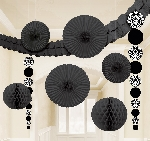 Kit Decoracion Damask Black Party Decoration Kit