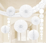 Decoracion Colgante White Damask Party Decoration Kit