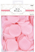 Decoracion Pink Fabric Rose Flower Petals Confetti - 5 cm 0
