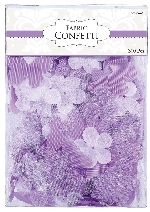 Decoracion Lilac Flowers & Butterflies Fabric Confetti 0