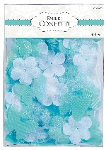 Decoracion Robin's Egg Blue Flowers & Butterflies Fabric Confetti 0