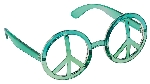 Gafas Fun Shades World Peace Tinted