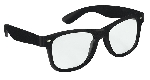 Gafas Fun Shades Nerd Black Clear