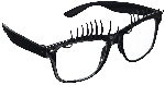 Gafas Fun Shades Lashes Black Clear
