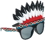 Gafas Fun Shades Indian Head Dress Tinted
