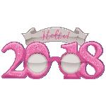 GLASSES GLITTER 2018 NY PINK
