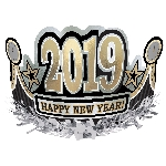 Tiara 2019 Happy New Year Foil Crowns