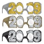 Gafas 2019 Glitter New Year Multipacks