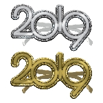 Gafas 2019 Glitter New Year