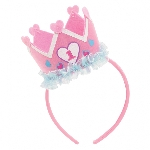 Gorro 1st Birthday Pink Headband with Crown