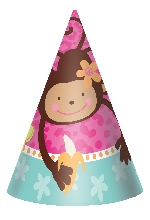 """CONE HATS 6"""" MONKEY LOVE"""